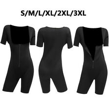 Sweat Neoprene Women Full Body Shaper Bodysuit Shapewear Suit Regular Size  /