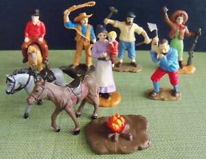 SAFARI BRAND TOY SETTLERS, NOT A COMPLETE SET.  PRE-OWNED
