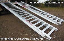 6 Tonne Capacity Aluminium Loading Ramps 3.6 Metres X 450mm Track Width