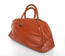 Vintage Tote / Holdall Style Bag - Brown Leather - 1980s- Al Pacino - Med/ Large
