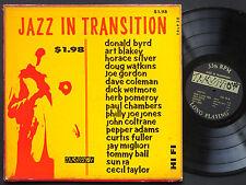 DONALD BYRD JOHN COLTRANE SUN RA Jazz In Transition LP TRLP 30 Orig US 1957 MONO
