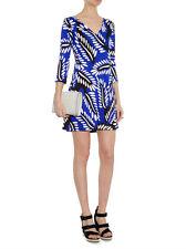 Diane von  Furstenberg  Kaden Silk Dress In Riveria Buds Multi Blue US  2 $428