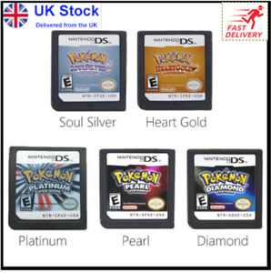 DS Game Cartridge Console Card Pokemon Series Black White HeartGold SoulSilver✅✅