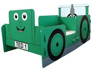 Kidsaw Tractor Ted Toddler Bed Frame Digger Green, 140 x 70 Cotbed - SLIGHT MARK