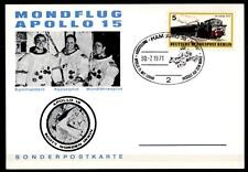 Apollo 15. Ausstellung 30.07.1971, Hamburg. Sonderkarte. SoSt. BRD 1971