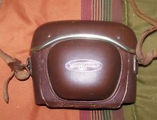 VINTAGE CAMERA VOIGTLANDER 35MM WITH LEATHER CASE COLLECTIBLE