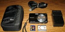 Sony Cybershot DSC-W350 14.1MP 4x Optical Zoom Black UVGC Guarantee Bundle
