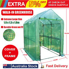 1.9x1.3m Greenhouse Walk In  Tunnel Plant Green House Garden Storage Grow Sheds