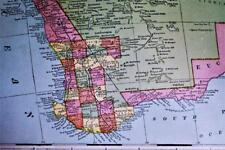 WEST AUSTRALIA BORNEO NEW GUINEA ATLAS MAP PAGE PLATE 1908 VINTAGE GEORGE F CRAM