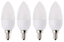 Four 4X E12 LED Bulbs Candelabra Bulb Soft White 3W=25Watt ea. replacement