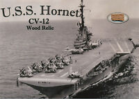 U.S.S. HORNET Wood Relic Piece of Historic Naval Ship Navy UNIQUE WWII Apollo 11