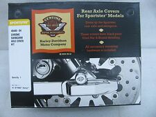 New Harley Davidson Chrome Sportster Rear Swing Arm Axle Covers Kit 45448-04