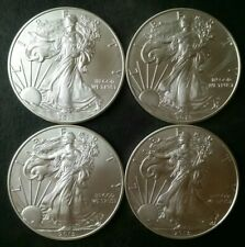 Lot of Four 2013 $1 American Silver Eagle Dollars
