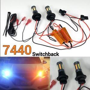 Rear Turn Signal Light T20 7440 w21w Switchback White Amber 66 LED Bulb K1 I H