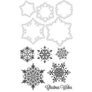 Kaisercraft Snowflakes Decorative Stamp & Die Set Christmas Winter