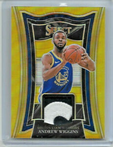 2020-21 PANINI SELECT BASKETBALL ANDREW WIGGINS GOLD REFRACTOR LOGO PATCH 2/10