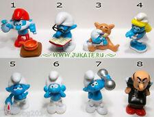 Collectible Complete 8 figures Set THE SMURFS II KINDER SURPRISE 2010 UN 126-134