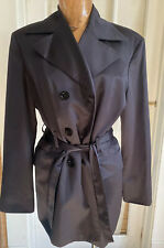 Benetton L black tuxedo belted cocktail jacket Italy lined double breasted LUXE
