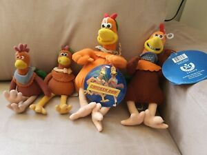 Chicken Run Soft Toys collectables 2 are BNWT year 2000 4 in total bulk buy