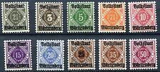 GERMANY WURTTEMBERG 1919 VOLKSSTAAT OVPTS O43-O52 PERFECT MNH SET