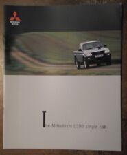 MITSUBISHI L200 SINGLE CAB PICK UP orig 1999 UK Mkt Large Format Sales Brochure