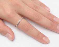 Silver Thin Eternity CZ Band Ring Sterling Silver 925 Best Deal Jewelry Size 11