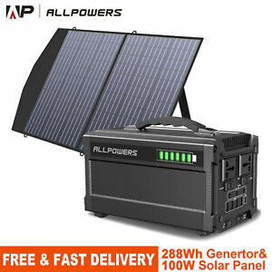 288Wh Portable Power Station Power Generator Supply With 18V100W Solar Panel
