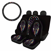 5pcs Dreamcatcher Car Seat Covers with Steering Wheel Cover Auto Accessories Set