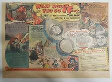 """Ralston Cereal Ad: Tom Mix """"2 in 1 Compass"""" Premium 1936 Size:11 x 15 inches"""