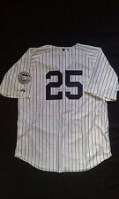 Mark Teixeira New York Yankees Autograph Majestic Replica Pinstripe Jersey NWT