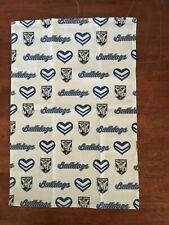 NRL CANTERBURY BULLDOGS SET OF 2 TEA TOWELS /  FABRIC 60 CM X 40 CM BRAND NEW