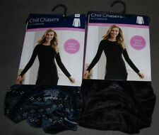 Womens Chill Chasers Cuddl Duds L-Sleeve Velour with Stretch Crew New Variations