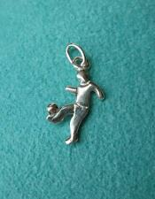 Soccer Football Player Charm Finland Sterling Silver Vintage Antique Bracelet