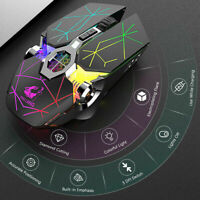 X13 Wireless Rechargeable Game Mouse Mute Liquid-cooled Shining Mechanical Mice