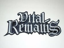 VITAL REMAINS EMBROIDERED BACK PATCH