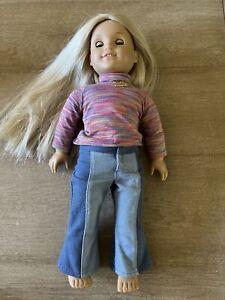 """american girl doll 18"""" Julie Blonde Hair Brown Eyes"""