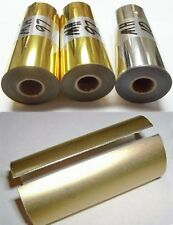 "Hot Stamp Foil -3"" x 95' You choose: Gold or Silver + Canister - Price Reduced"