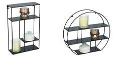 Metal Wall Shelf Unit Decorative Floating Shelves Office Home Storage Display