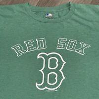 Boston Red Sox T Shirt Mens 2XL Green MLB Baseball