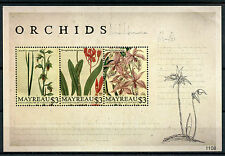 Mayreau Grenadines St Vincent 2011 MNH Orchids 3v M/S I Flowers Flora Stamps