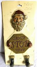 Vintage Holiday Santa Stop Here Tree Face