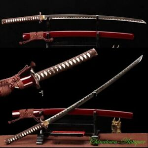 High Speed Steel Sakabatō Reverse Blade Japanese Katana Samurai Sword Sharp#2243