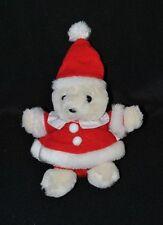Peluche doudou ours blanc Les Surgelés PICARD Habit père noël rouge 20 cm TTBE