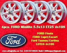 4 Cerchi FORD LOTUS TALBOT PEUGEOT Minilite 5.5x13 4x108 Wheels Felgen Jantes
