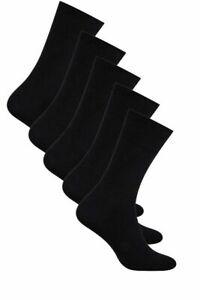 Mens Plain Black Classic Sock Casual Wear Everyday Socks Size UK 7-11 EUR 41-46