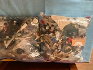 Assorted lot of vintage buttons two gallons or 9 lbs