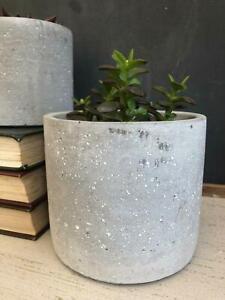 Large Rustic Concrete Geometric Garden Planter Flower Herb Pot Wedding Table