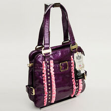 Bowling Tote Bag Handbag Tote Bag Women's Bag Purple Lacquer Design by Lydc 79