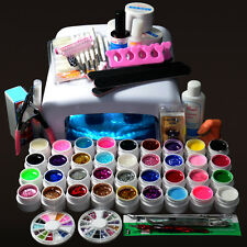 New Pro 36W UV GEL White Lamp & 36 Color UV Gel Nail Art Tools Sets Kits