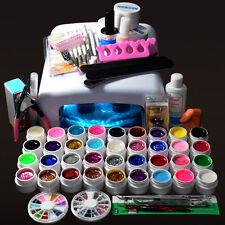 New Pro 36W UV GEL White Lamp & 36 Color UV Gel Nail Art Tools Sets Kits
